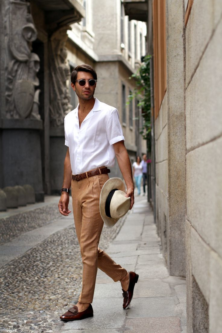 Which Dress Pants To Wear With a White Short Sleeve Shirt   Men's ...