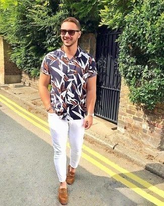 Jack Jones Short Sleeve Shirt With All Over Floral Print