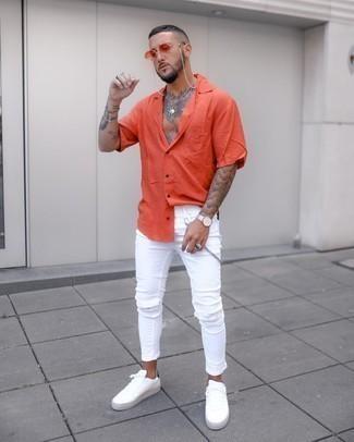 Shirt fashion orange Amara Top