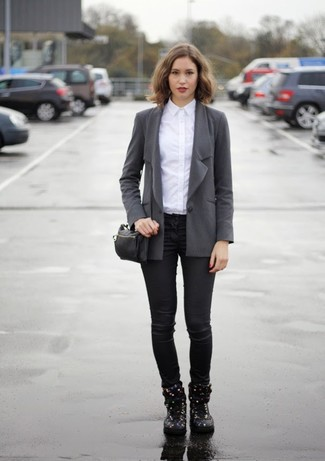 Fantastic Heres The Problem With Black Blazers If Your Wardrobe Is Blackheavy, There Isnt Much To Wear With Them Think About It Most Women Rely Heavily  To Pull Off Grey Bottoms Work, But How Many Pairs Of Grey Pants Do You Own To Make
