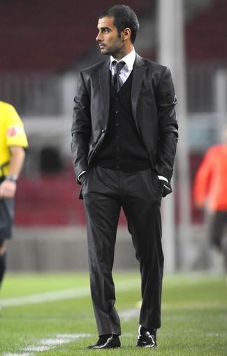 a733478de45 Pep Guardiola. Pep Guardiola wearing Charcoal Suit ...