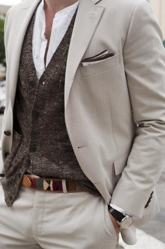 How to Wear a Dark Brown Cardigan (43 looks) | Men's Fashion