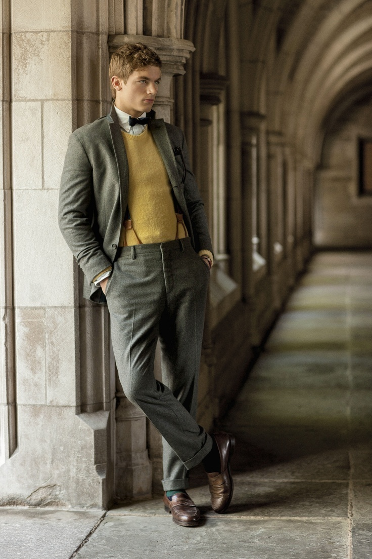How to Wear a Green-Yellow Crew-neck Sweater (32 looks) | Men's ...