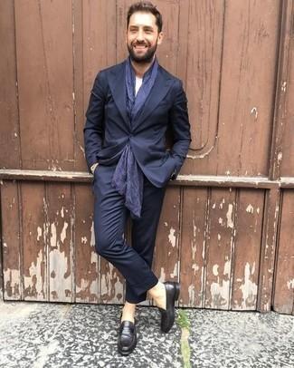 Trend Fit Suit Navy