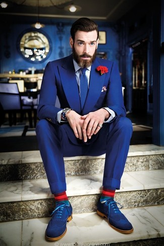 How to Wear a Blue Suit (261 looks) | Men's Fashion