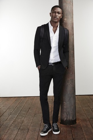 A Black Suit And White Dress Shirt Will Showcase Your Sartorial Self Want To