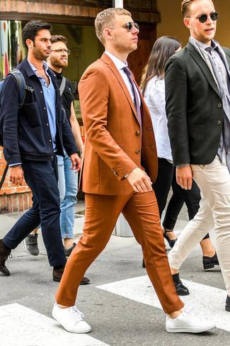 Black And Orange Slim Kline Suit