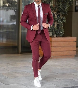 Burgundy Suit Outfits (83 ideas