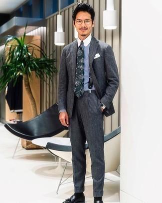 Solid Suspenders Black