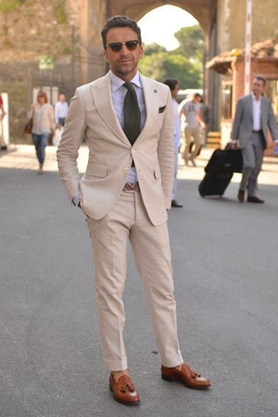 How to Wear a Beige Suit (98 looks) | Men's Fashion