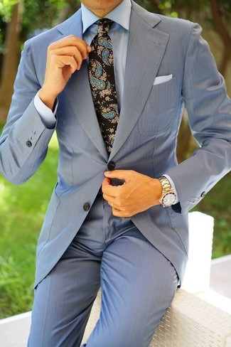 How to Wear a Light Blue Suit: For an outfit that's truly Kingsman-worthy, reach for a light blue suit and a light blue dress shirt.