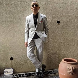 Black Polo Outfits For Men After 60: For a casual look, wear a black polo and a red polo — these items work perfectly well together. Introduce black leather loafers to the mix for a hint of sophistication. Certainly a good pick if we're talking outfit ideas for gents in their 60s.