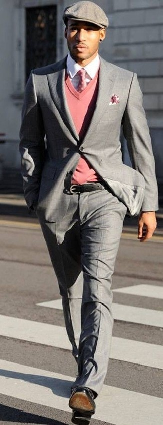What Color Shoes With Grey Suit And Pink Shirt