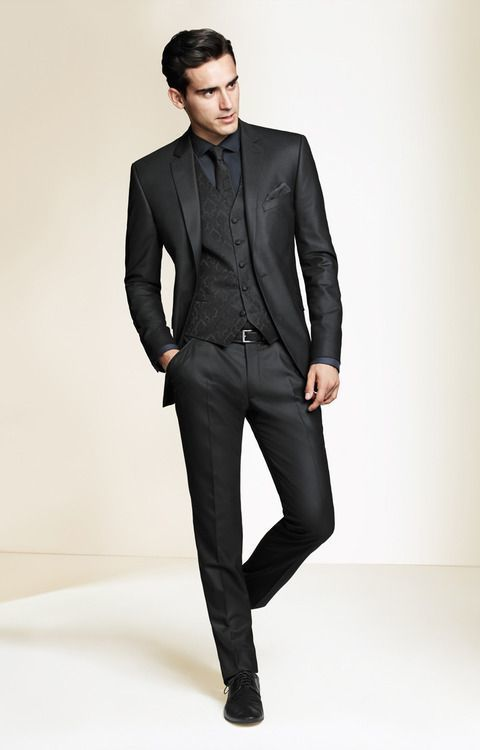 How to Wear a Black Suit (215 looks) | Men's Fashion