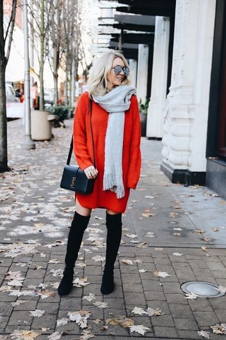 How to Wear a Red Sweater Dress (16 looks) | Women's Fashion