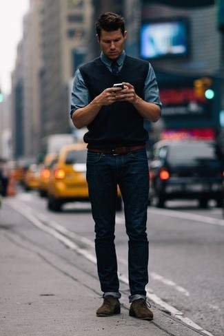 How To Wear A Sweater Vest 20 Looks Outfits Mens Fashion