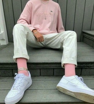 Pink Logo Socks