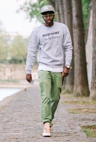 Jeans outfit green mens How to