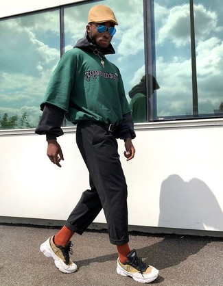 layered cotton hoodie