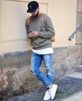 Grey Gart Dyed Sweatshirt