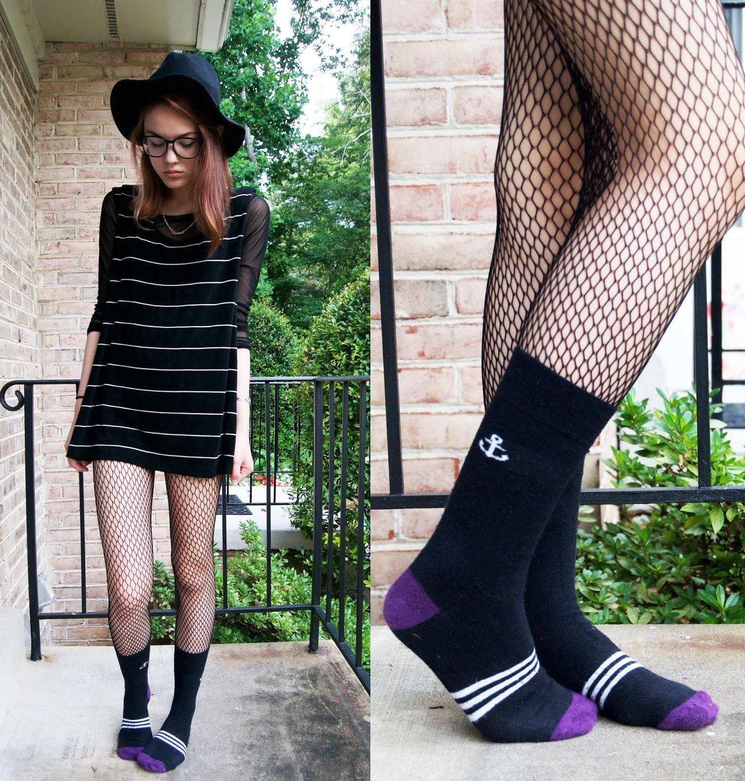 Black Fishnet t Shirt Dress images