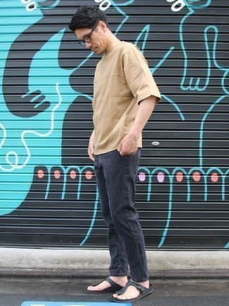 Jeans with Flip Flops Outfits For Men