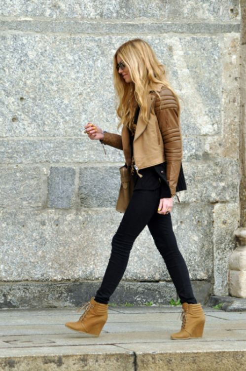 what to wear with wedge ankle boots
