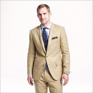 What color dress shirt with tan suit
