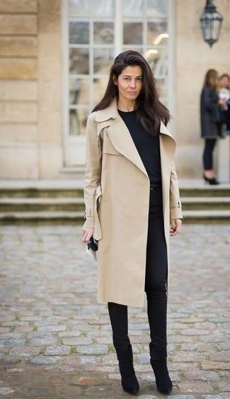 London Kensington Mid Length Cotton Gabardine Trench Coat