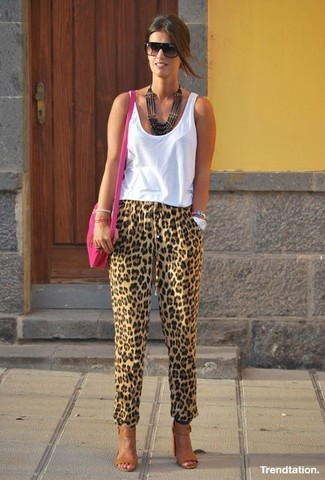 Ivanna Lace Up Block Heel Sandal