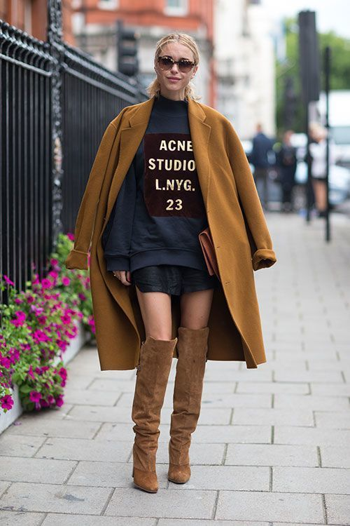 How to Wear Brown Over The Knee Boots (23 looks) | Women's Fashion
