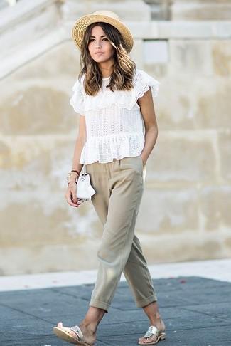 Pantalón chino en beige de Dolce & Gabbana
