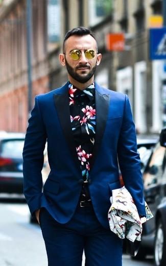 Moda para Hombres › Moda para hombres de 30 años Look de moda  Traje azul 505f1e8231d