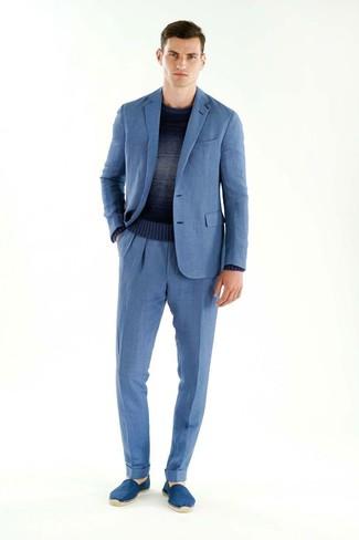 Cómo combinar un traje azul (476 looks de moda)  00ef076e3b4