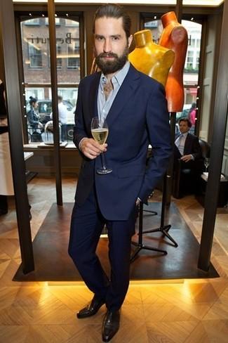 Moda para Hombres › Moda para hombres de 30 años Look de Jack Guinness  Traje  azul marino 58038c4e3e0