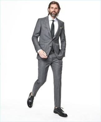 Corbata a lunares en gris oscuro de Dolce & Gabbana