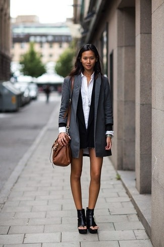 Long One Button Jacket