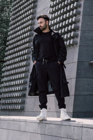 Black Trenchcoat Outfits For Men 69, All Black Trench Coat Outfit