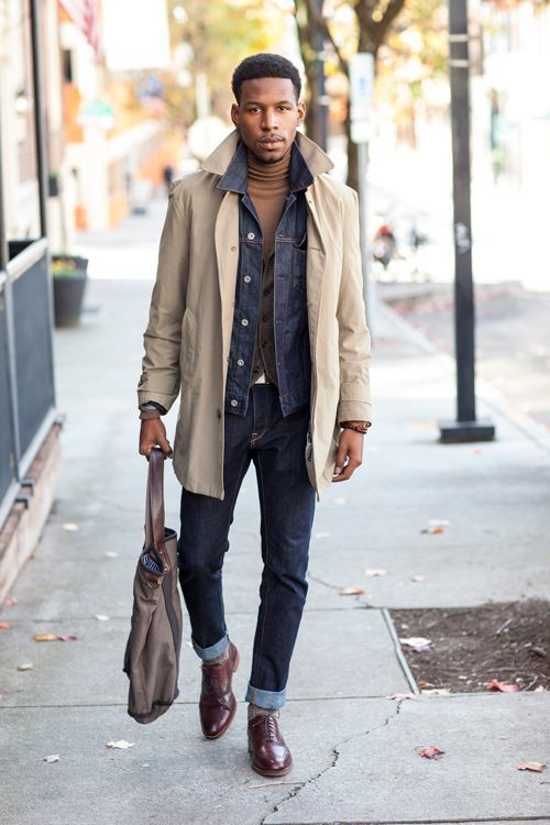Navy Denim Jacket | Men's Fashion