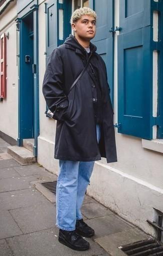 Black And Yellow Paris Bond Messenger Bag
