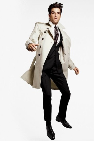 Which Trenchcoat To Wear With a Black Suit | Men's Fashion