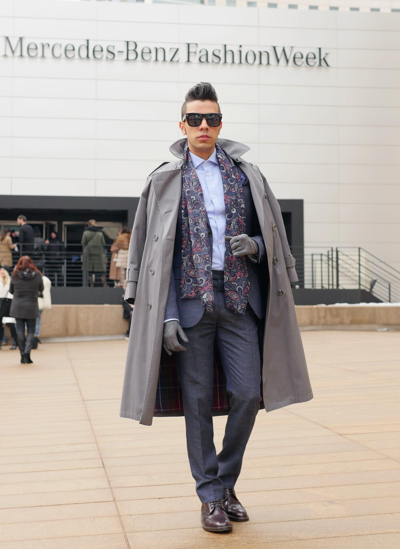 Grey Trenchcoat | Men's Fashion
