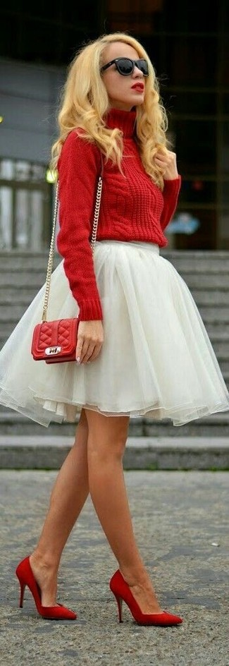 Red Gg Marmont Stripe Shoulder Bag