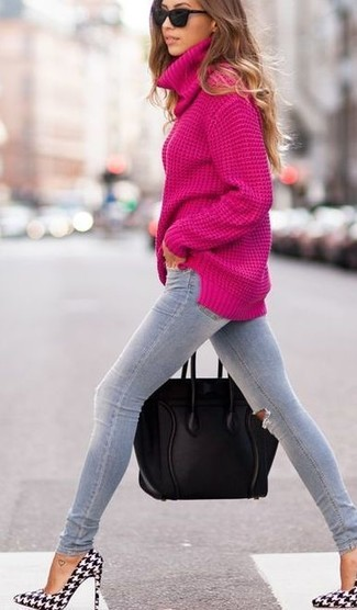 Reach for a hot pink turtleneck and grey ripped skinny jeans to showcase you've got serious styling prowess. And if you want to instantly up the style of your look with one piece, add MICHAEL Michael Kors Michl Michl Kors Zady Ankle Strap Pointed Toe Pumps to the mix. So if you're on the hunt for an outfit that's seriously stylish but also feels entirely spring_friendly, this one is great.