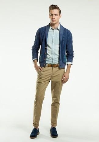 Sweater Shawl Collar Carded Cotton Cardigan
