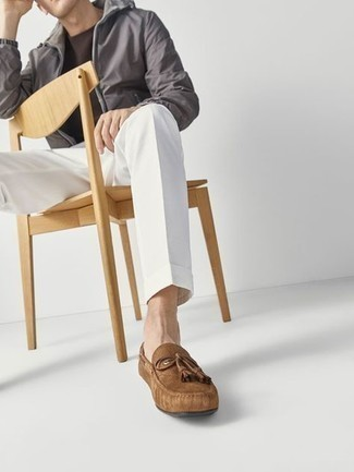 Monaco Driver Tan Suede Driving Loafers