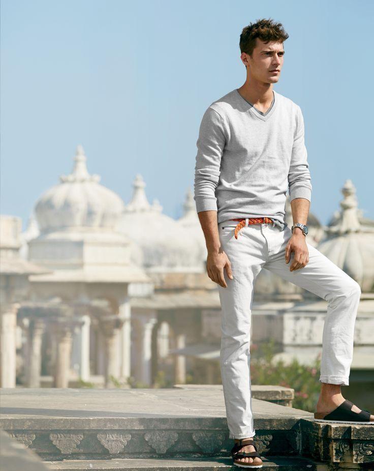 How to Wear White Linen Dress Pants (4 looks) | Men's Fashion