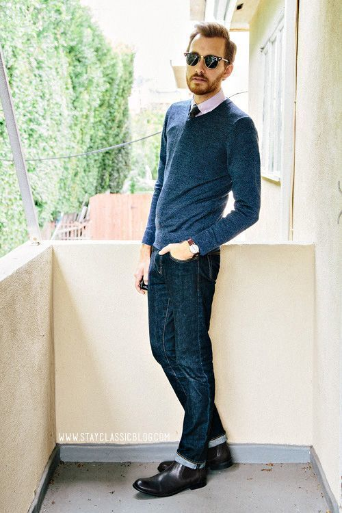 Black V Neck Sweater With Tie 55
