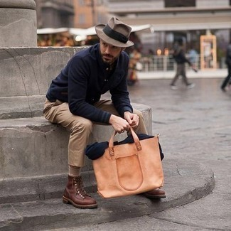 Wesley Tan Wool Brim Hat