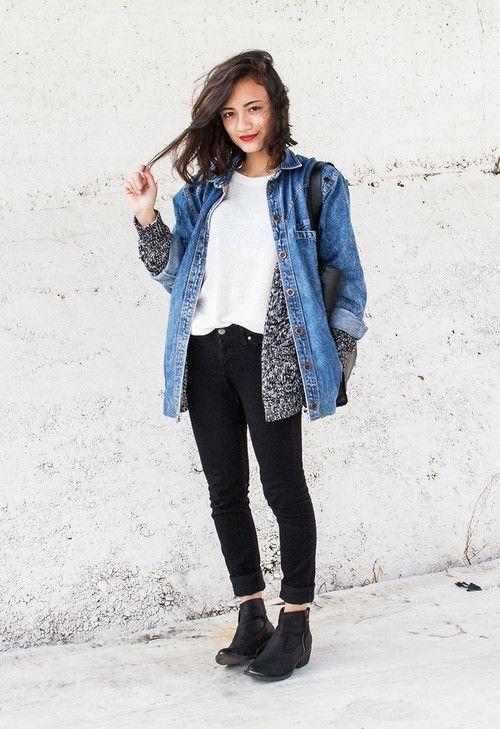 Veste en jean femme avec quoi